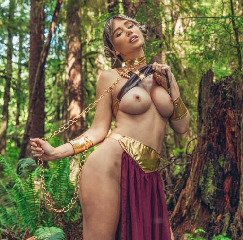 Sara Underwood princess leia slave