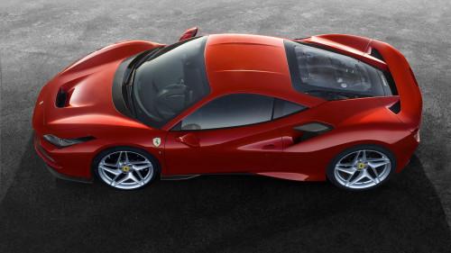 Ferrari f8 aerial side